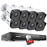 ANNKE H800 5MP POE CCTV Security Camera System with 2TB HDD 4K/8MP Ultra NVR and 8X 5MP POE C500 Outdoor IP Camera Support ONVIF Hikvision H.265+ Video Format and Night Vision
