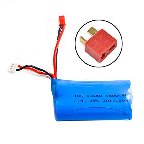 Novania 7.4V 1200mAh Lithium Battery Compatible WithWLTOYS 12428/ L959/144001 RC Off Road Car,Truck Airplane Helicopter Boat Remote Control Hobby Remote & App Controlled Vehicle LiPo Batteries
