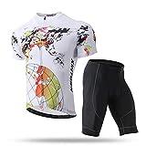 Yajun Maillot De Ciclismo Hombres Jersey Ropa De Bicicleta Traje Esqueleto Pantalones De Manga Corta Conjunto Camisa De Secado Rápido De Verano Tops,White,XL(170-178CM/66-72KG)