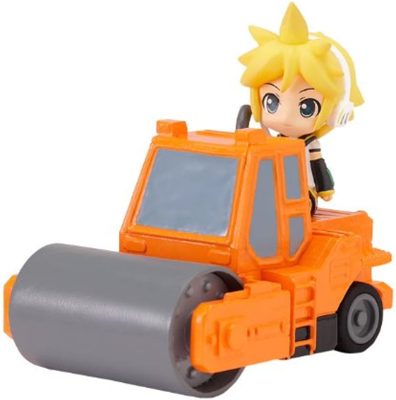 Official Nendgoldid Plus Vocaloid PullBack Car Mini Figure  3 Ren   orange Road Roller (Japanese Import)
