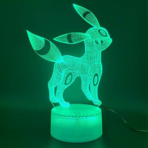 Led Spiel Pokemon Go Umbreon Figur Neuheit Eevee Familie 3D LED Nachtlicht USB Tischlampe Kinder Geburtstagsgeschenk Nachttisch Dekoration