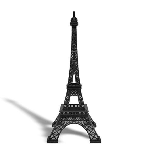 Allgala Eiffelturm-Statue, Dekoration, Legierung, Metall, verschiedene Farben und Größen, metall, Schwarz , 38,1 cm