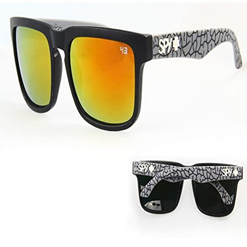 Akaid Gafas de Sol, Gafas de Sol clásicas cuadradas Coloridas para Hombres y Mujeres, Gafas de Sol Deportivas para Viajes en la Playa, Gafas