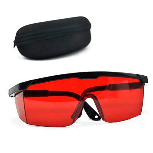 MXECO Gafas de protección Rojas Gafas de Seguridad láser Gafas de protección láser de 190 NM a 540 NM con Caja Cuadrada de Terciopelo
