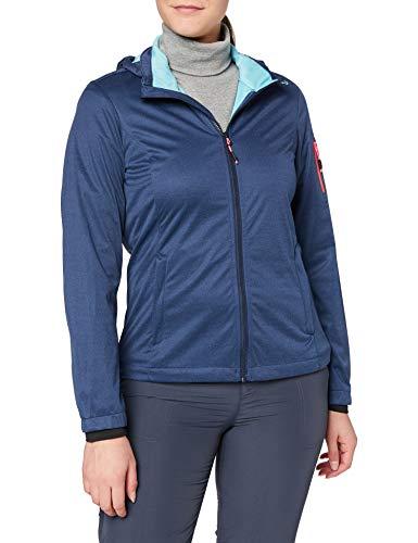 CMP Damen Lightweight, Windproof and Waterproof Softshell Jacket WP 8.000 Jacke, Blue Melange, D36
