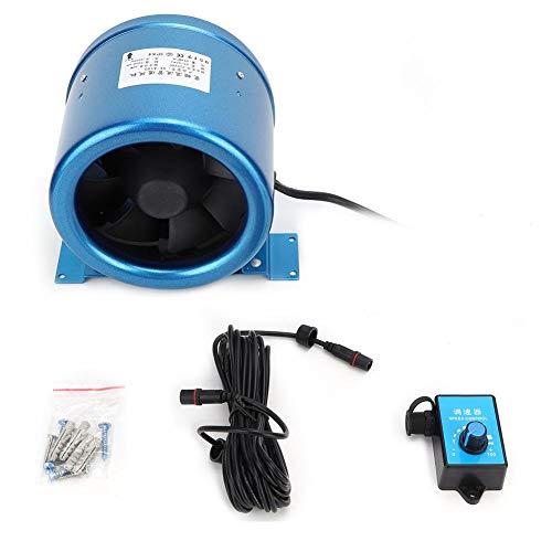 【𝐏𝐚𝐬𝐜𝐮𝐚】 Controlador de velocidad, ventilador de conducto de controlador de velocidad ajustable de 6 pulg. Para salas de reuniones de hoteles AC220V 40W 5000 RPM AC220V