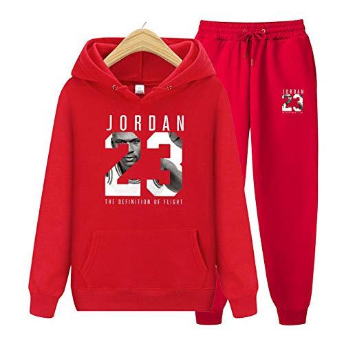 Chicago Bulls NBA Jordan # 23 Retro Sportswear Anzug Bequemer Basketball Laufsport Loose Top Coole Atmungsaktive Sportswear