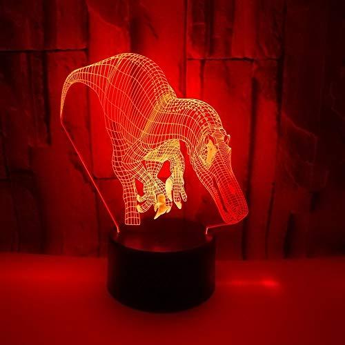 Dinosaurio 3D LED Cable de iluminación USB Amigos Regalo para niños Dormitorio para niños Lámpara de mesa Fiesta Multicolor Decorativo Salón Dormitorio Luz de noche