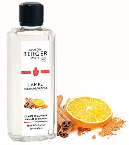 Lampe Berger Düfte - inkl. Broschüre und Anleitung I Parfums de Maison I (Refill) I Das Original I Deine Lampe - Dein Duft von Maison Berger… (Orange-Zimt, 1000 ml)
