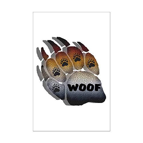 CafePress Woof Furry Bear Pride PAW Mini Poster Print