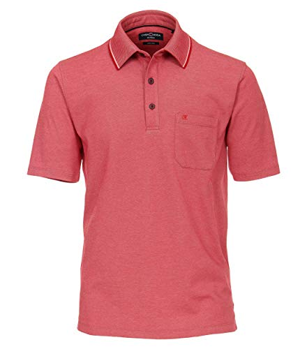 CASAMODA Herren Polo-Shirt unifarben Brusttasche,rot 439,XXL