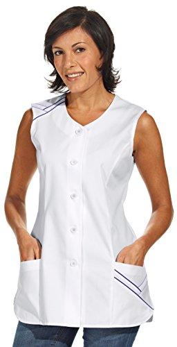 clinicfashion 10112077 Kurzkasack ohne Arm, weiß, für Damen, Mischgewebe, Größe 52