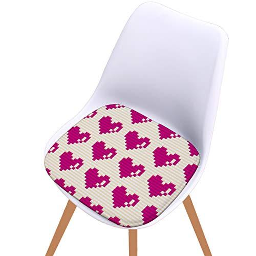 Xisheep DDigital Printed Cotton Non-Slip Seat Cushion Outdoor Restaurant Garden Cushion, Christmas Holiday Party Decoration