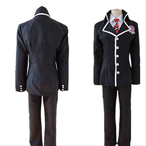 BELUNOT Anime Ao no Exorcist Blue Exorcist Okumura Rin Okumura Yukio Cosplay Costume Full Set School Uniform (Jacket + Pants + Tie) XL