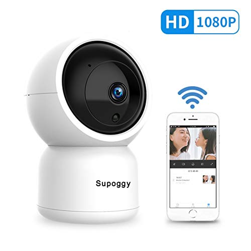 Supoggy Pan/Tilt/Zoom HD IP Cámara Vigilancia 1080P Cámara