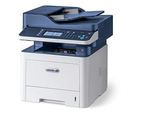 Xerox WorkCentre 3335dni Wireless A4 Mono Multifunction Laser Printer, White/Blue