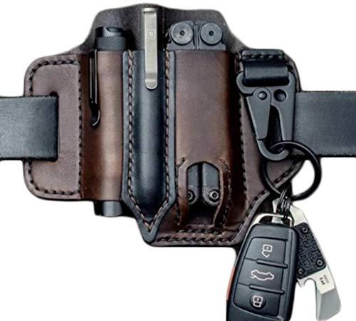 Multitool Leather Sheath EDC Pocket Organizer - High Leather...