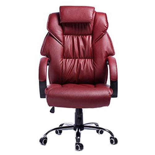 Draaistoel naaien leer kunst ergonomische managerstoel home computer stoel lederen stoel draaistoel wijn rood