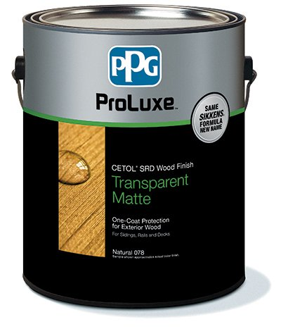 PPG ProLuxe Gallon Cetol SRD Exterior Wood Finish Translucent - Cedar 077