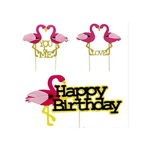 12 tarjetas de inserción con palillo de dientes para decoración de tartas de rosas, ideal como regalo para cumpleaños, cumpleaños, decoración de tartas
