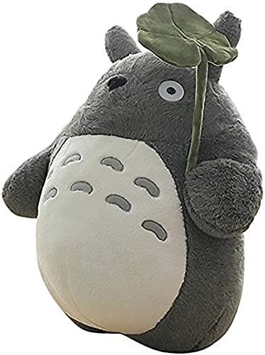 OshoeQ Totoro Peluche Juguete Lindo Felpa Gato Anime Figura Mi Vecino Totoro Peluche Squirtle MuñEcos Boda Vacaciones De CumpleañOs De La Novia De Regalo Kid (Hoja De Loto,Gris,50cm