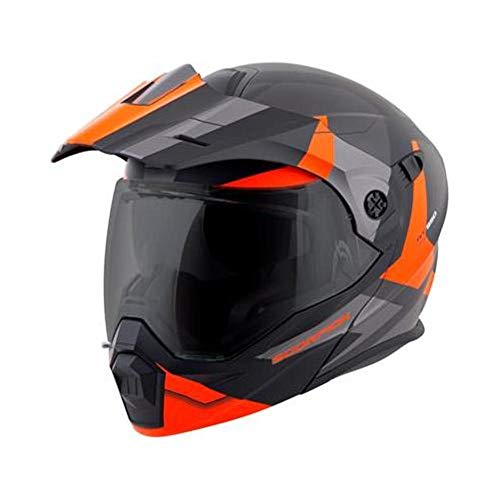 Scorpion EXO-AT950 Cold Weather W/Dual Pane Shield Bike Motorcycle Helmet - Orange/X-Large