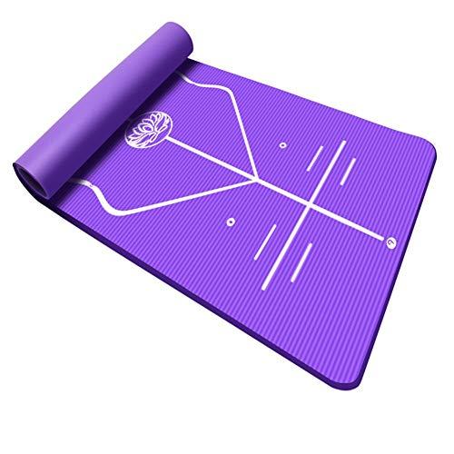 Yoga-Matte Anti-Rutsch-Tanzsport Fitness-Matte Yoga-Matte Tumbling Matten auf dem Boden-Matte Yoga-Matten-Trainingsmatte Beweglicher Haupt Taekwondo Übung Sport Fitness-Matte ( Color : Purple )