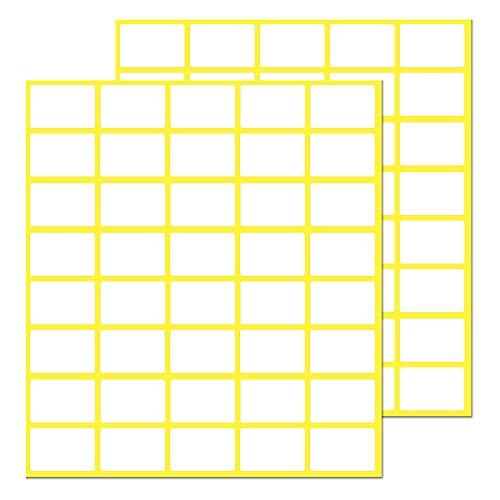 Pack de 1000, 20 x 13 mm - Etiquetas Adhesivas Blancas Pegatinas