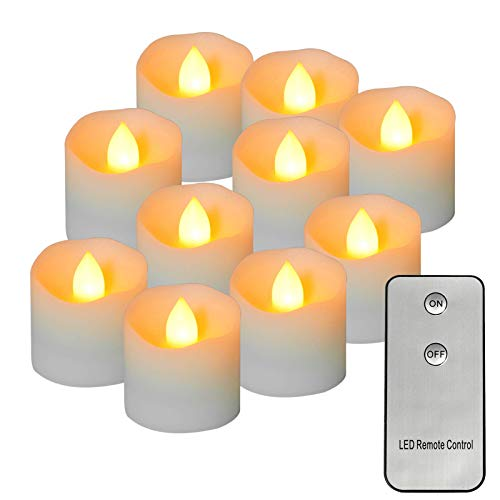 No/Brand Electronic Candle Remote Control Tea Light Flashing, Long Lasting Battery Powered Led Candle with Remote Control, Suitable for Home Decoration and Seasonal Celebrations, 12 Pieces