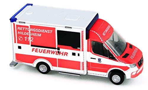 Rietze 76204 was Design RTW 2018 Rettungsdienst Hildesheim 1:87