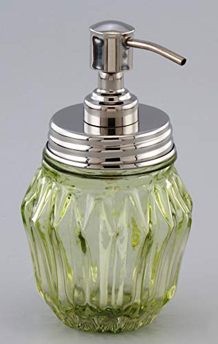 Olive Green Glass Soap or Sanitizer Dispenser Export Quality 400ml 'Made in India' Mfr GRD International