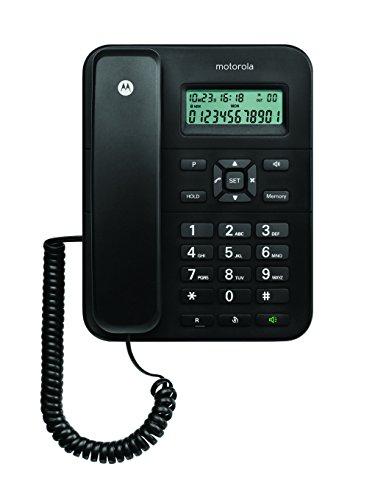 Oferta de Motorola CT202C - Teléfono Fijo Analógico (Manos Libres, Capacidad de 30 Contactos), Negro