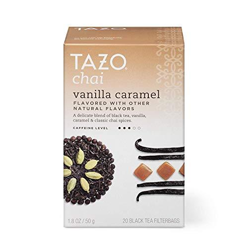 TAZO Vanilla Caramel Chai Black Tea Filterbags , 20 Count, Pack of 6 (Packaging may vary)