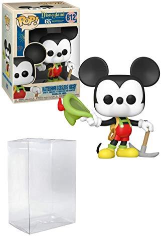 Mickey in Lederhose Matterhorn Bobsleds Mickey Pop #812 Disneyland 65. Vinyl-Figur (gebündelt mit EcoTek Schutzfolie zum Schutz der Displaybox)