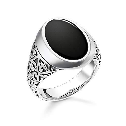 Thomas Sabo TR2242-698-11 - Anillo negro de plata de ley y ónice