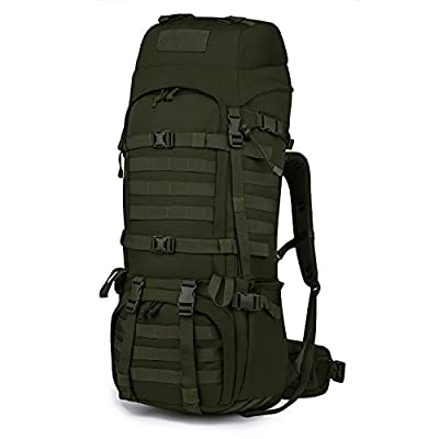 Mardingtop 65L Internal Frame Backpack Tactical Military Molle Rucksack for Hunting Shooting Camping Hiking Traveling Army Green