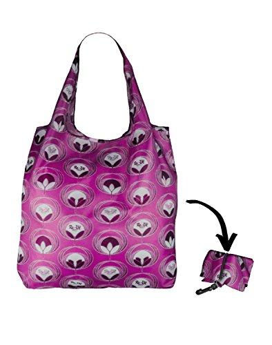 Re-Uz Lifestyle Shopper - pieghevole borse della spesa riutilizzabili - Flower Power Grape