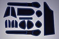 KINMEI(キンメイ) 日産 ノート E12 NOTE 専用設計 青 インテリア ドアポケットマット ドリンクホルダー 滑り止め ゴムマット ノンスリップ 収納スペース保護 NISANe12-b