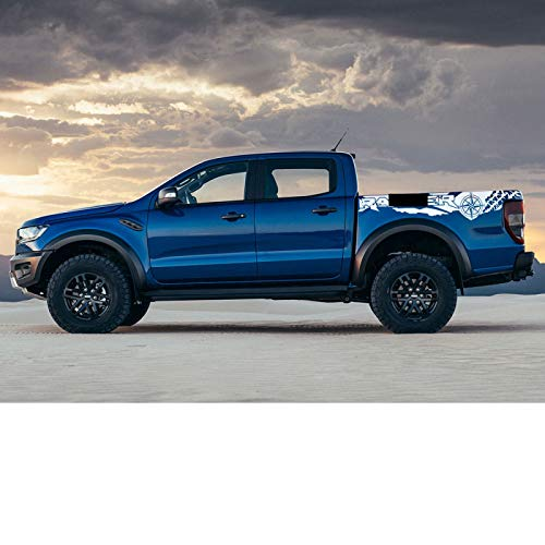 Pegatinas de Coche con Estampado de neumáticos, brújula, Aventura, Todoterreno, Cola automática, Vinilo, calcomanía gráfica, para Accesorios de Recogida Ford Ranger Raptor