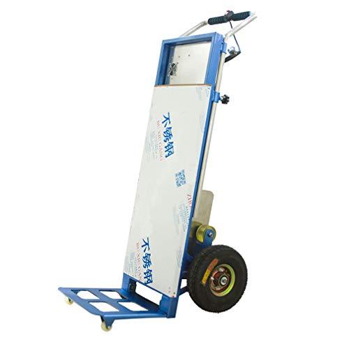 SJGC Elektro-Treppensteiger-Handwagen, EIN-klick-Steuerung auf und ab, Lithium-Batterie mit großer Kapazität, gebogener Tragarm, Klettergeschwindigkeit: 20 bis 40 Schritte/Minute