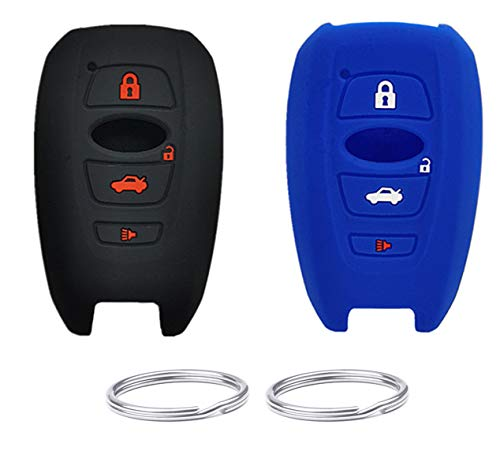 REPROTECTING Silicone Rubber Key Fob Cover Compatible with 2014-2021 Subaru Ascent BRZ Crosstrek Forester Impreza Legacy Outback WRX WRX STI XV Crosstrek YQ14AHC 1551A-14AHC 88835-CA310 HYQ14AHK