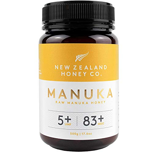 New Zealand Honey Co. Miel de Manuka MGO 83+ / UMF 5+   Nueva Zelanda Miel 100{2708fd277906d30e2facd4e5f80766cf2537ac09d197483f1681024b7cfc9793} Pura y Saludable   500g