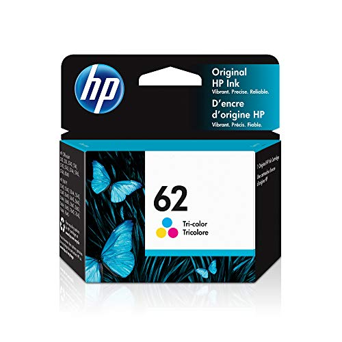 HP 62 | Ink Cartridge | Works with HP ENVY 5500 Series, 5600 Series, 7600 Series, HP Officejet 200, 250, 258, 5700 Series, 8040 | Tri-color | C2P06AN