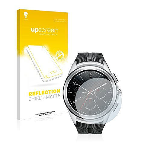upscreen Entspiegelungs-Schutzfolie kompatibel mit LG Watch Urbane 2nd Edition – Anti-Reflex Bildschirmschutz-Folie Matt