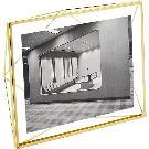 "Prisma 8""x10"" Gold Picture Frame. + Reviews | CB2"