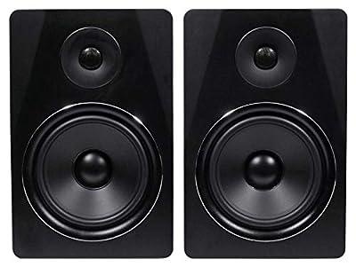 "Rockville APM8B 8"" 2 -Way 500W Active/Powered USB Studio Monitor Speakers Pair from Rockville"
