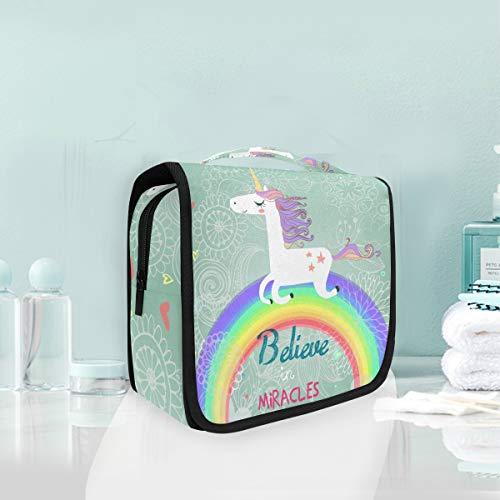 Maquillage Cosmetic Bag Rainbow Bonne course Licorne Portable Stockage Voyage Trousse De Toilette