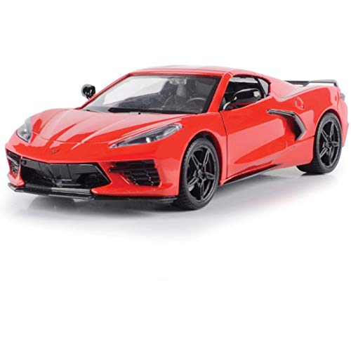 2020 Chevrolet Corvette C8 Stingray Red Timeless Legends 1/24 Diecast Model Car by Motormax 79360