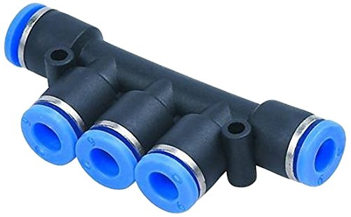 Pneumatic Manifold Union Tube OD 5//32 To OD 1//8 Air Push In Fitting 5 Pieces