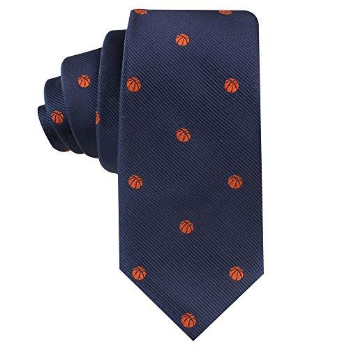 Cravatte da basket per lui   Amante di Bball   Regalo per gli uomini   Cravatte da lavoro per lui   Prezzie di compleanno per ragazzi (pallacanestro)